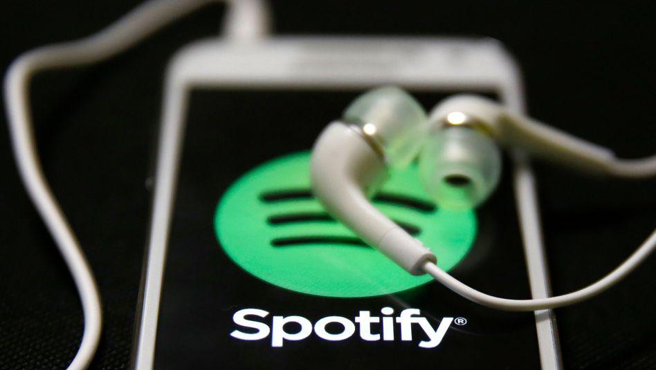 Spotify-App auf Smartphone