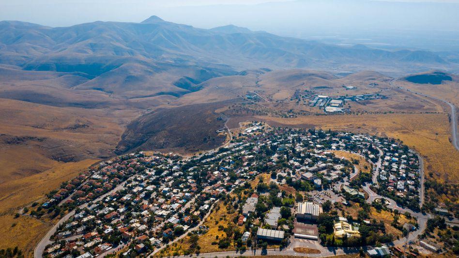 Luftbild der israelische Siedlung Ma'ale Efrayim im Westjordanland