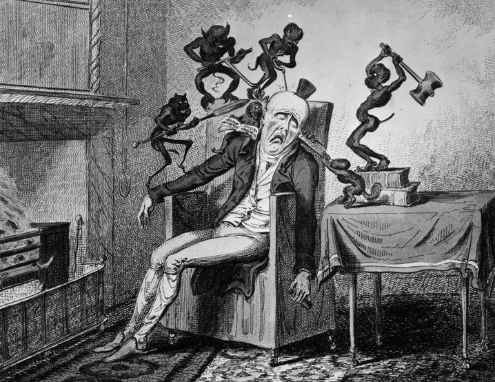 Illustration von Kopfschmerz (1819)