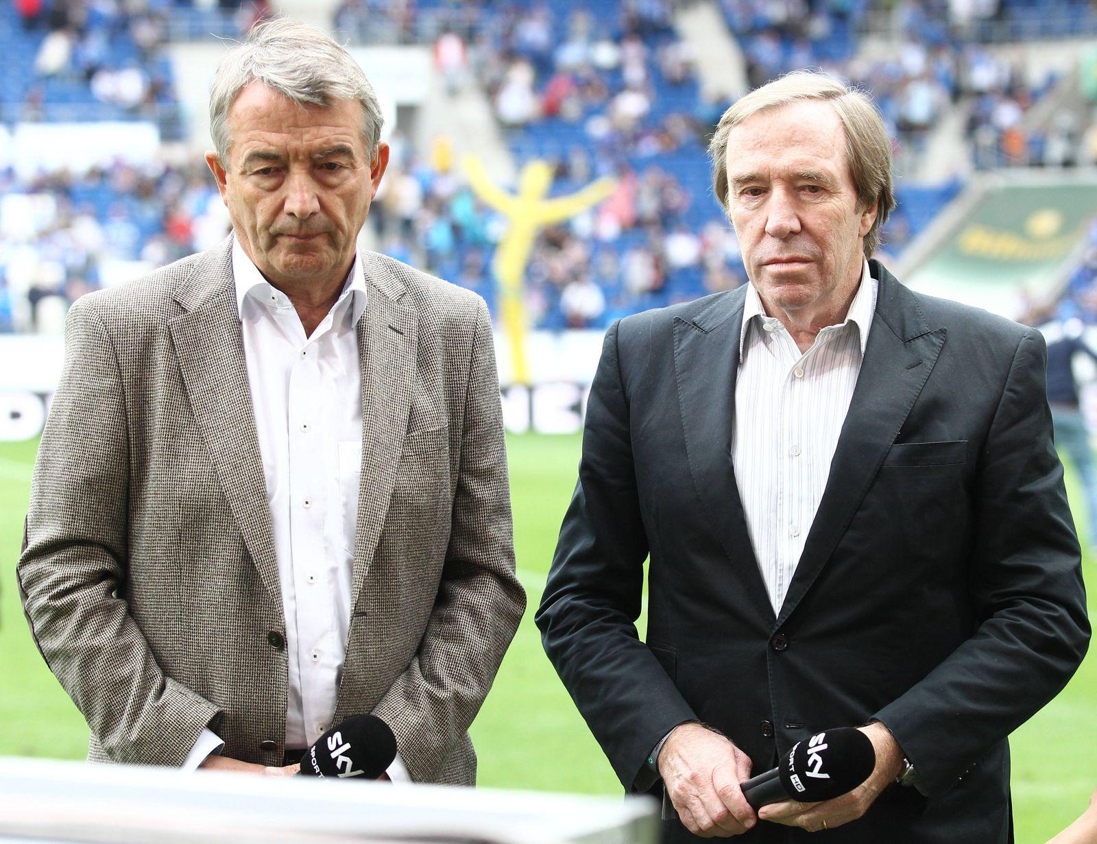 Hoffenheim DFB Praesident Wolfgang Niersbach und Fussball Legende Guenter Netzer zu Gast in Hoffenhe