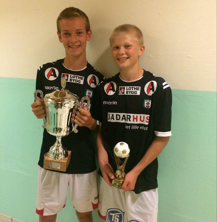 Links: Marcus Risa Ouff, rechts: der junge Erling Håland