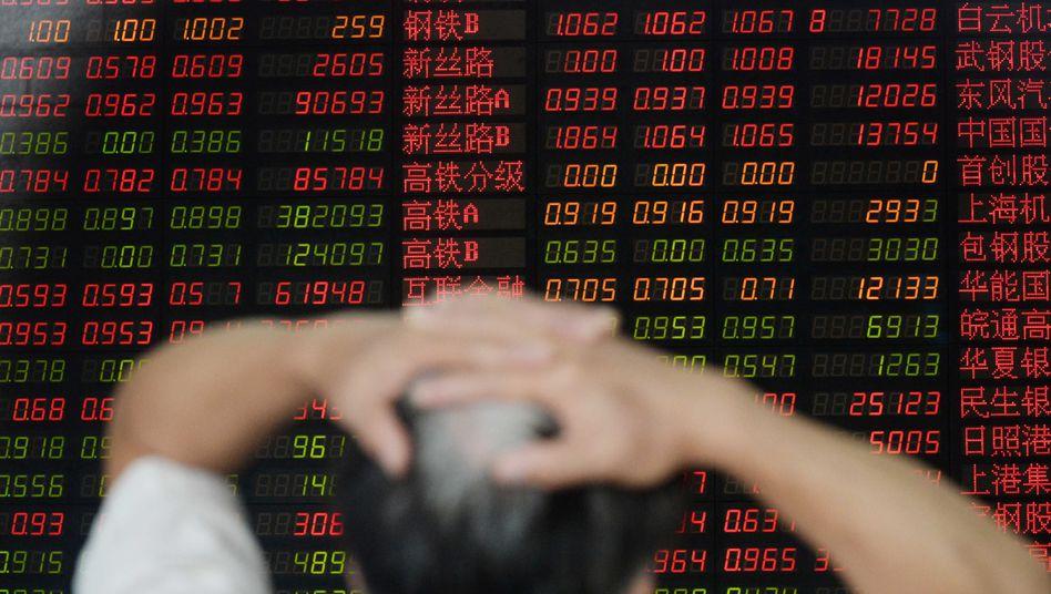 Börse in Shanghai: Schon wieder Verluste