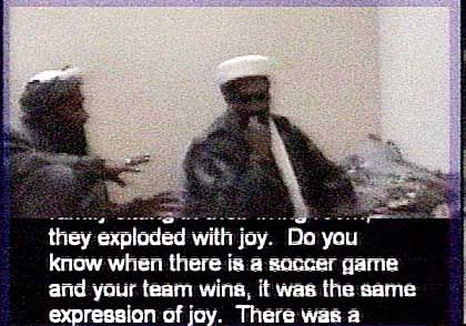 Genaue Details über Art und Methode der Anschläge: Osama Bin Laden freut sich über die Terrorakte vom 11. September