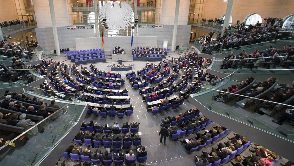 """Plenarsaal des Bundestags: """"Nichts geht mehr"""""""