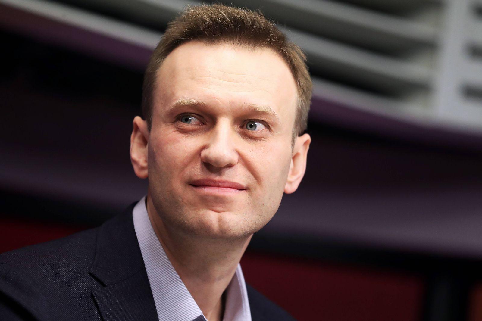 MOSCOW, RUSSIA MARCH 14, 2018: Russian opposition figure Alexei Navalny speaks live on Ekho Moskvy Radio. Anton Novod