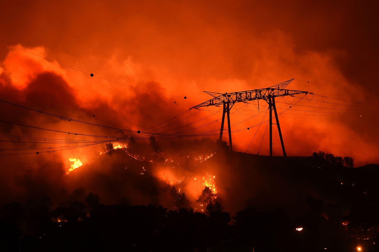Waldbrände Frankreich