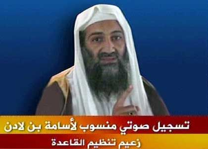 Osama bin Laden in a video grab from January 19, 2006.