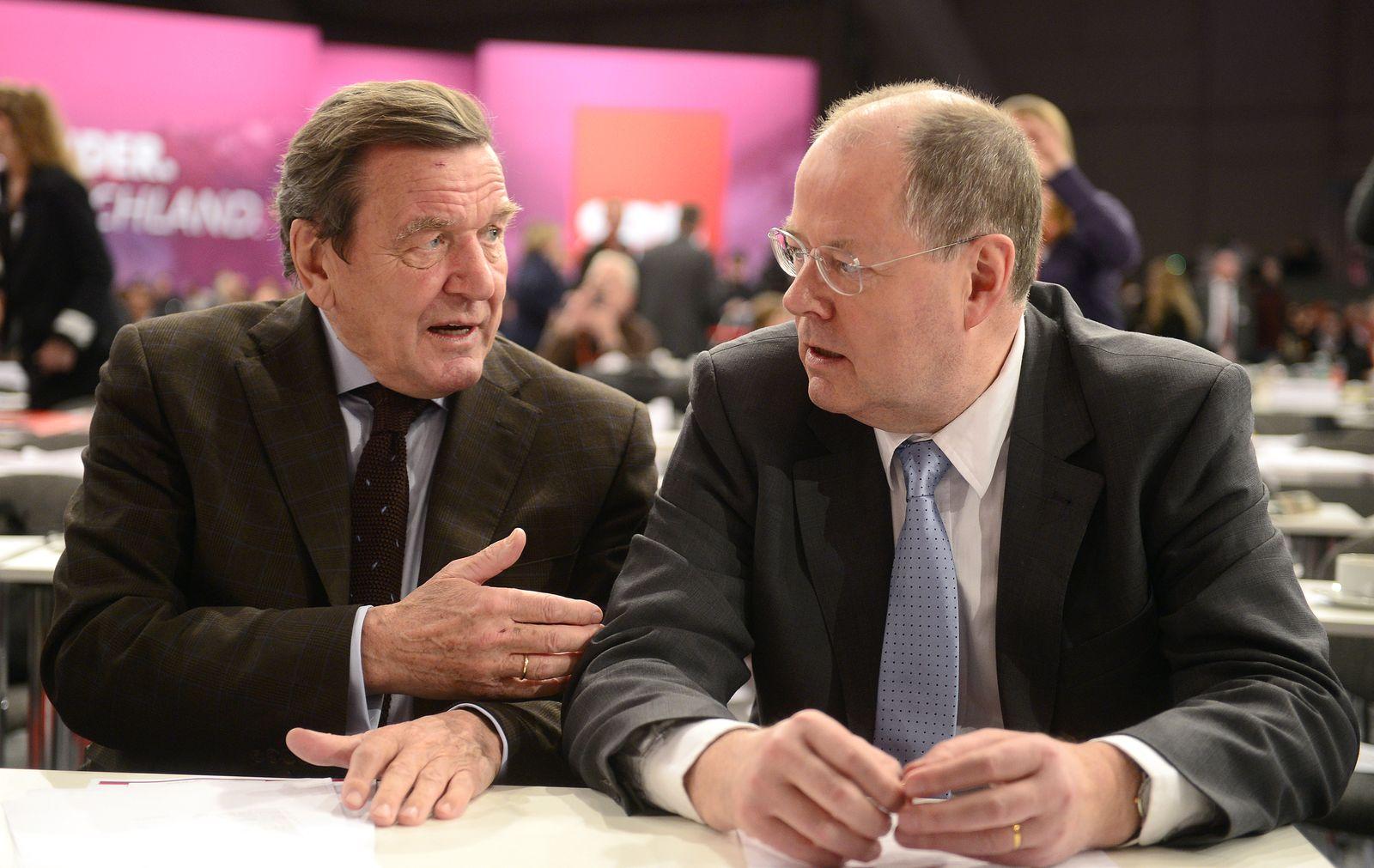 NICHT VERWENDEN SPD / Schröder und Steinbrück XXL