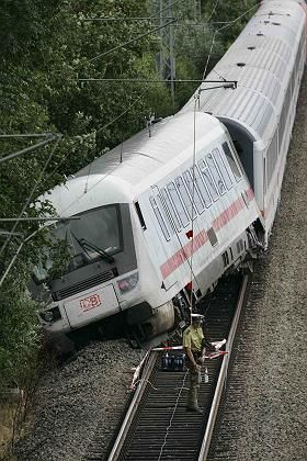 Off the rails: The road to privatization has made German trains less efficient.