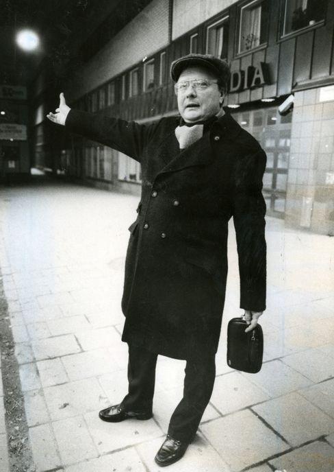 Stig Engström, der Mörder Olof Palmes, zeigte sich nach der Tat gern öffentlich, hier im April 1986.