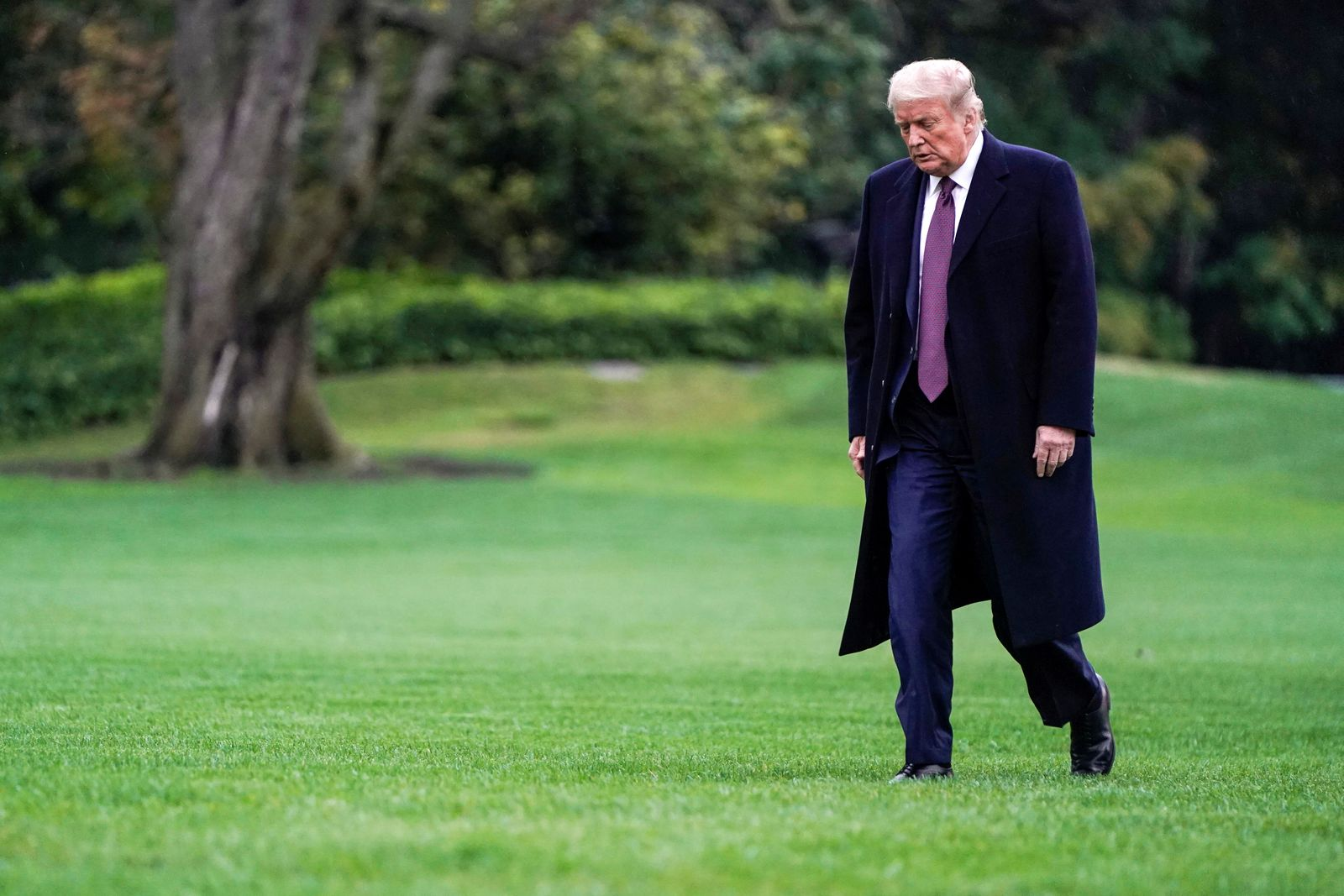 U.S. President Donald Trump arrives at the White House in Washington