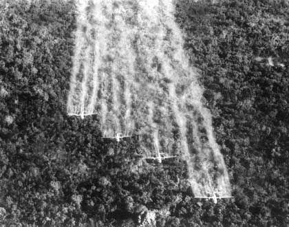"""US-Flugzeuge beim Versprühen des Entlaubungsmittels """"Agent Orange"""": """"Wir haben niemandem etwas zu Leide getan"""""""