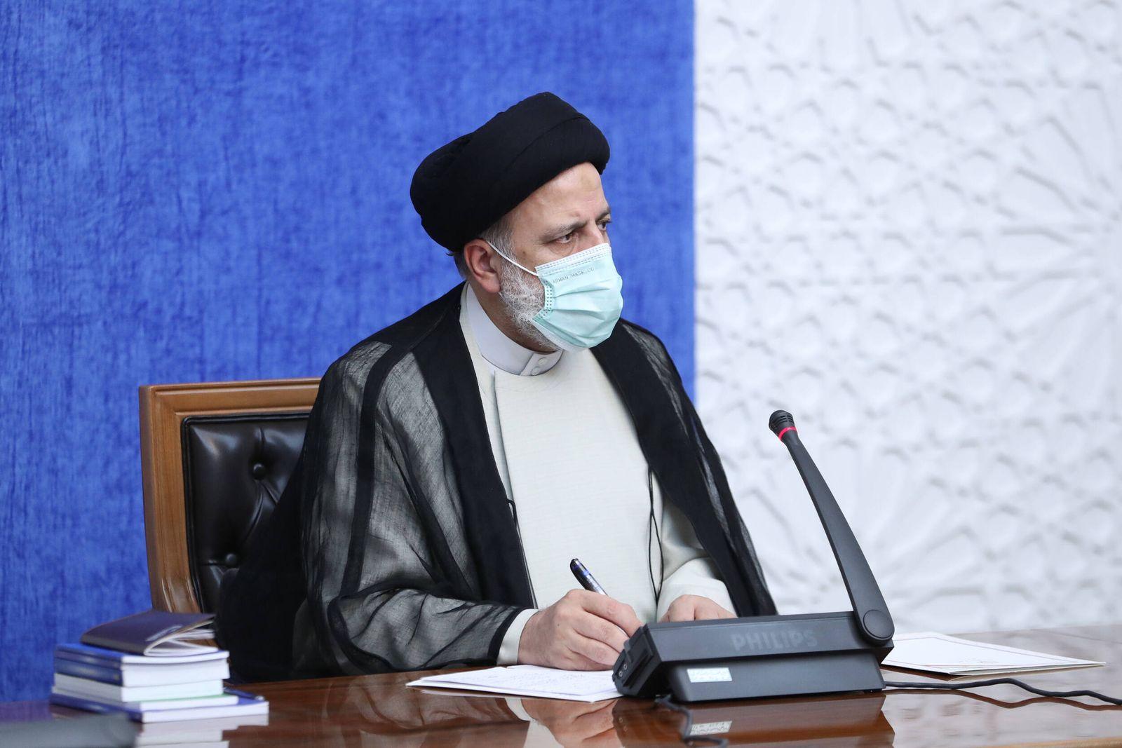 August 10, 2021, Tehran, Tehran, Iran: Iranian President EBRAHIM RAISI speaks during an emergency meeting of the Corona