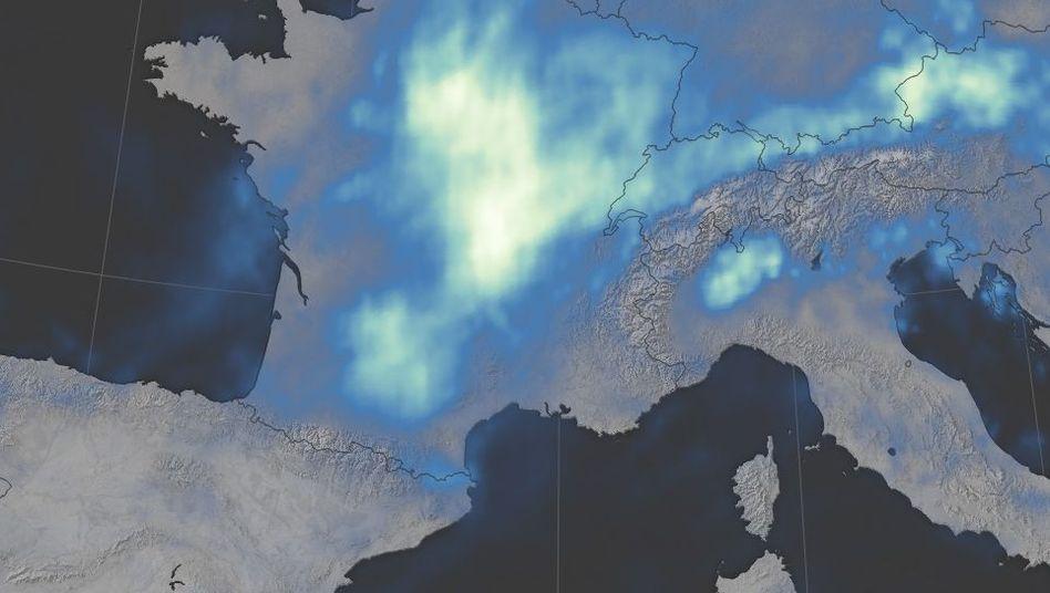 Satellitenbild des Niederschlags zwischen 22. Mai und 6. Juni