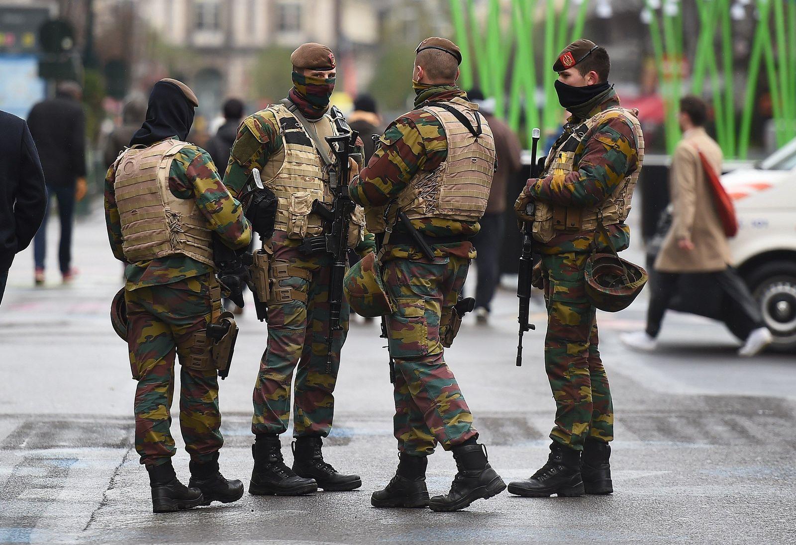 Soldaten in Brüssel / Belgien