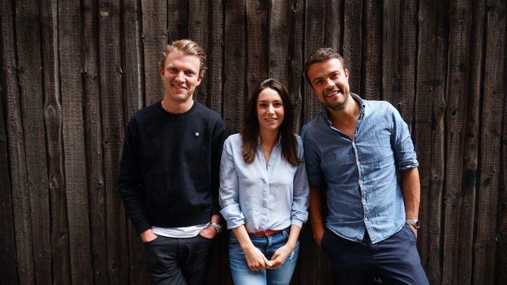 Die Gründer von Voiio, Holger Klinger (links), Kerstin Michels, Björn Wind