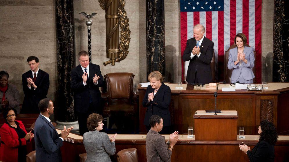 Merkel in Washington: Kamingespräch bei Obama, historische Rede im Kongress