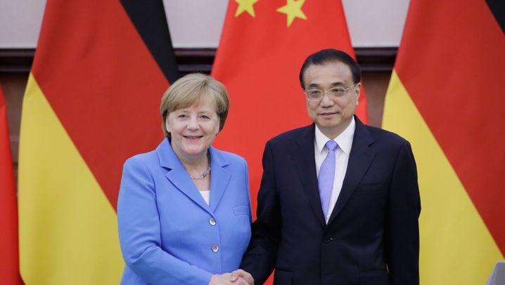 Merkel in China: Pompöser Empfang, komplizierte Gespräche