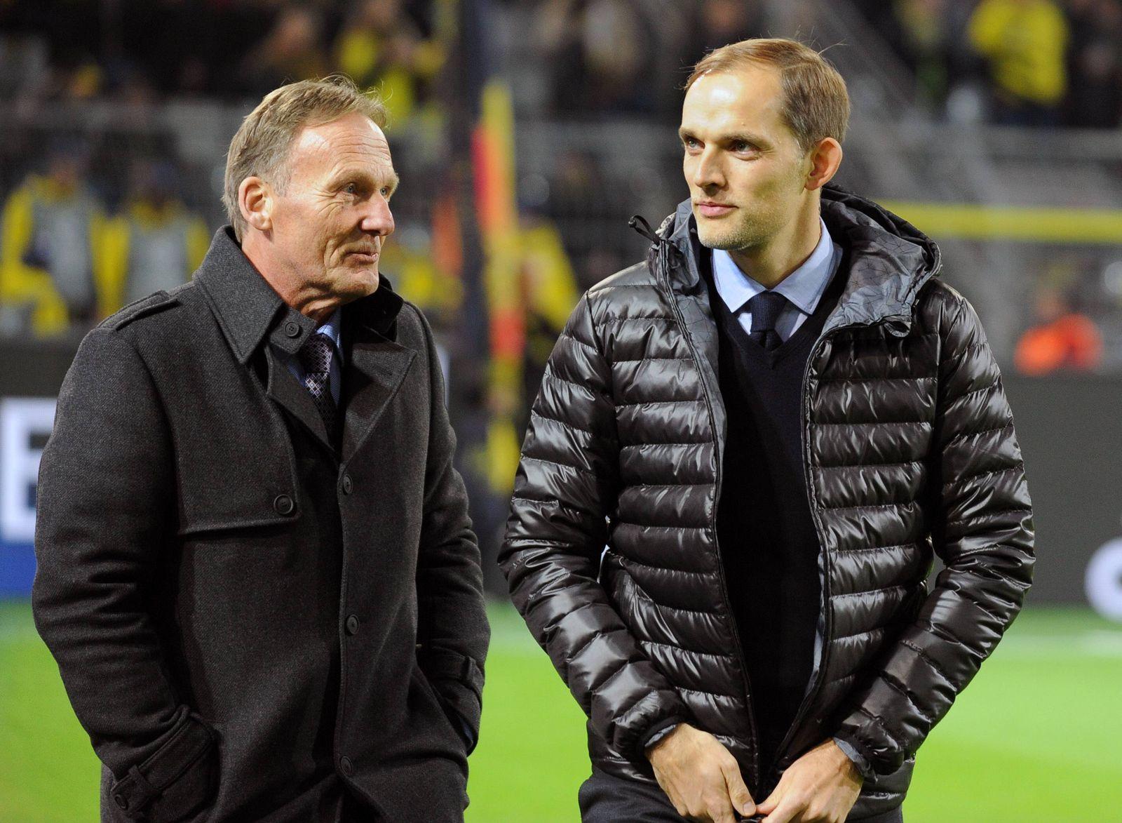EINMALIGE VERWENDUNG Watzke/ Tuchel/ Borussia Dortmund
