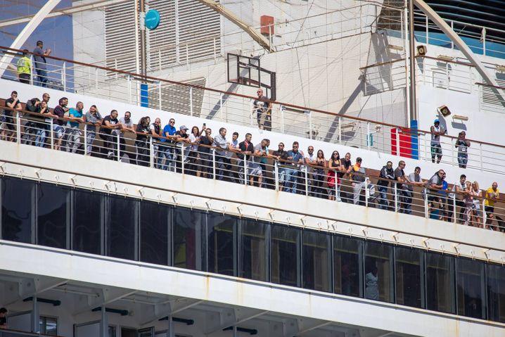 Kroatische Seeleute, die darauf warten, wieder an Land gehen zu können (Archivfoto)