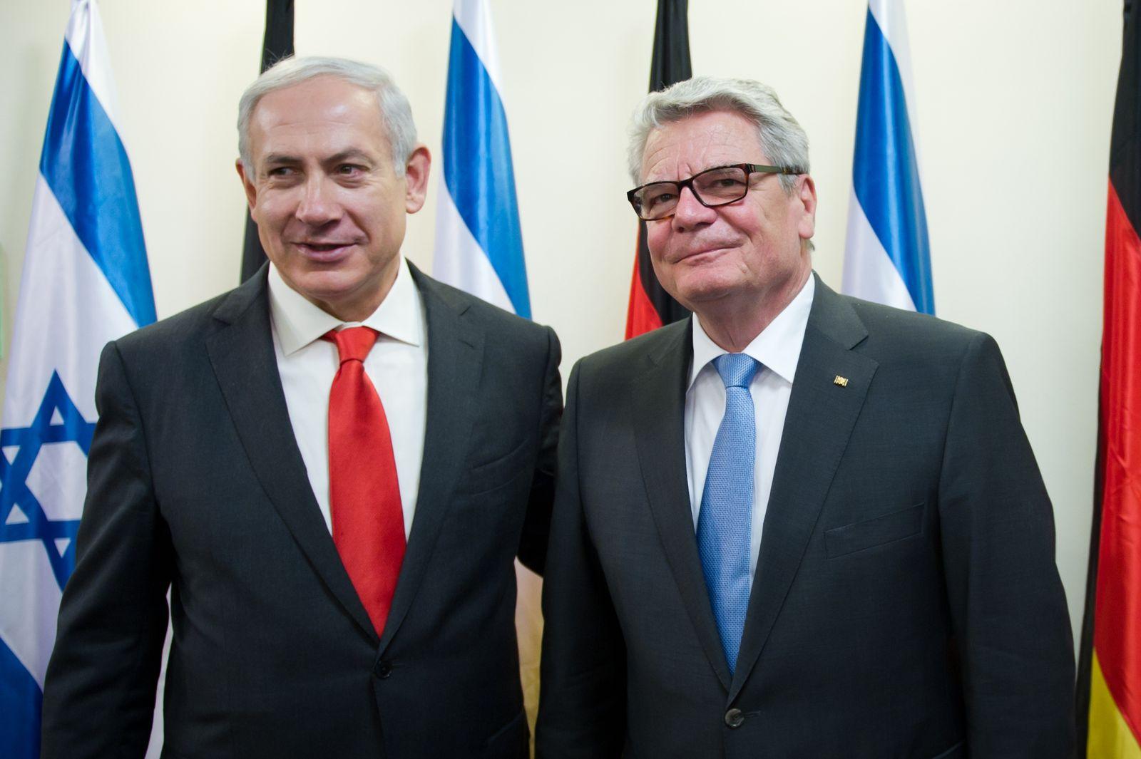 NICHT VERWENDEN Benjamin Netanjahu und Joachim Gauck