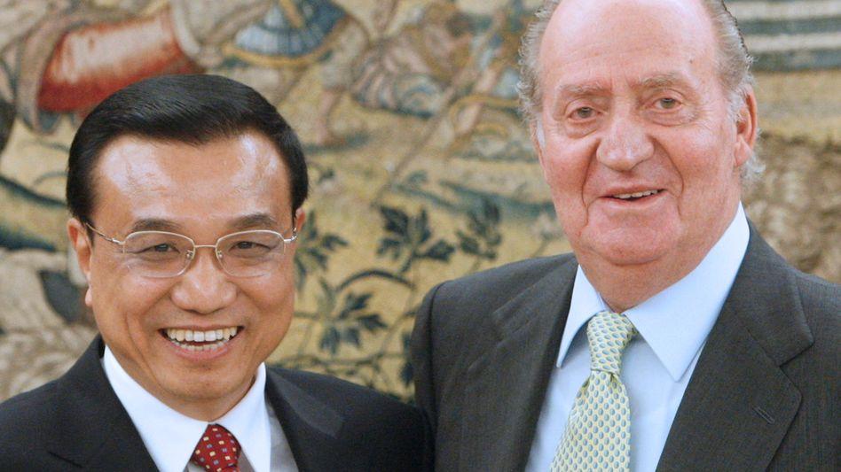 Chinas Vizeministerpräsident Li, Spaniens König Juan Carlos: Hilfe aus Asien