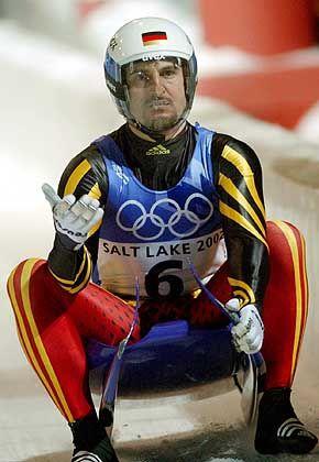 """Georg Hackl während der olympischen Spiele in Salt Lake City: """"Rodeln wesentlich mitgeprägt"""""""