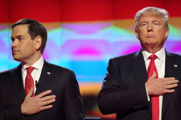 Marco Rubio (l.) und Donald Trump