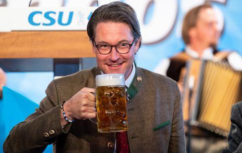 Bundesverkehrsminister Andreas Scheuer beim virtuellen politischen Frühschoppen Gillamoos