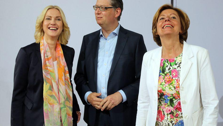 Manuela Schwesig, Thorsten Schäfer-Gümbel, Malu Dreyer: SPD-Übergangstrio plädiert für Doppelspitze