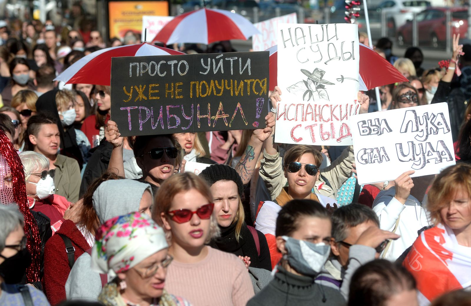 Opposition protests continue in Minsk, Belarus - 19 Sep 2020