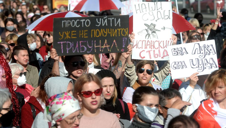 Protest in Minsk (am 19. September)