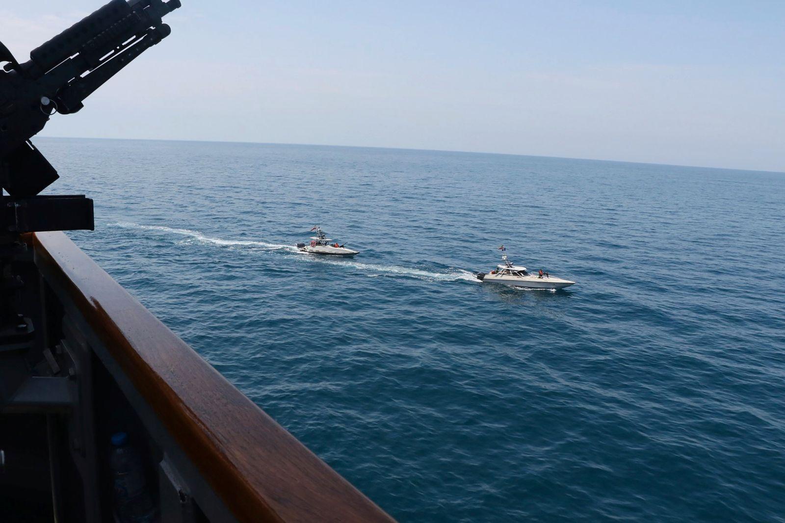 US-Militär: Iranische Boote provozieren amerikanische Kriegsschif