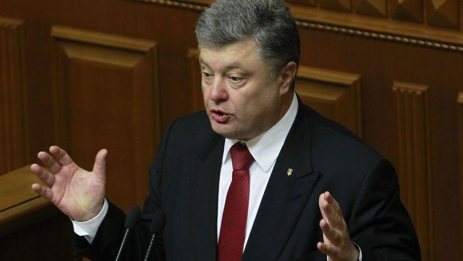 Ukrainischer Präsident Poroschenko: Warnung vor Krieg