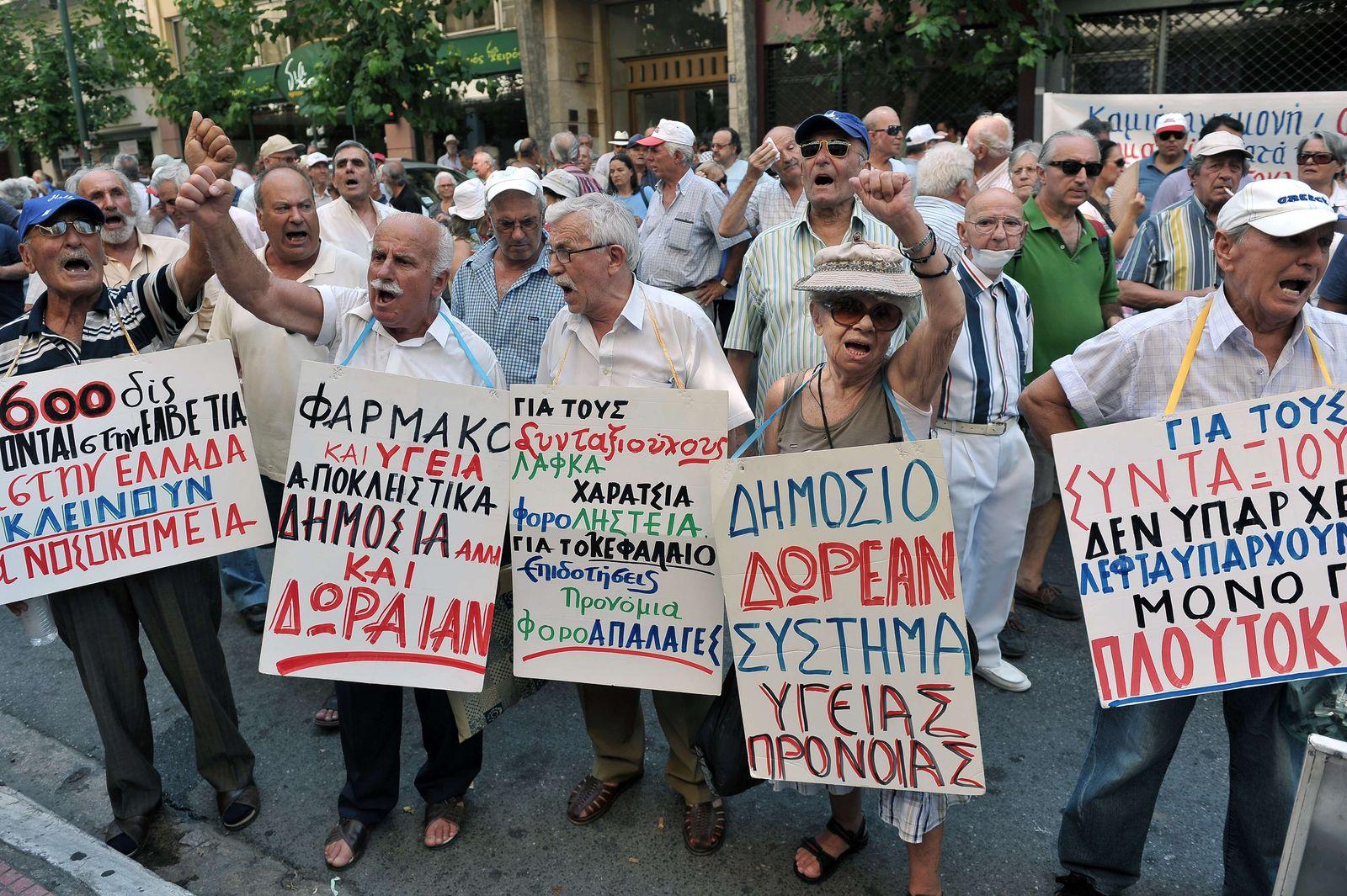 Proteste in Greichenland für freies Gesundheitssystem