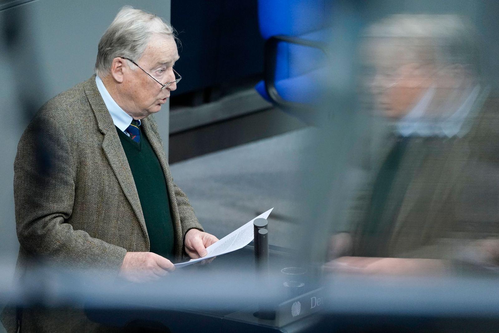 193. Bundestagssitzung in Berlin Aktuell, 20.11.2020, Berlin, Dr. Alexander Gauland im Portrait bei seiner Rede und Ent
