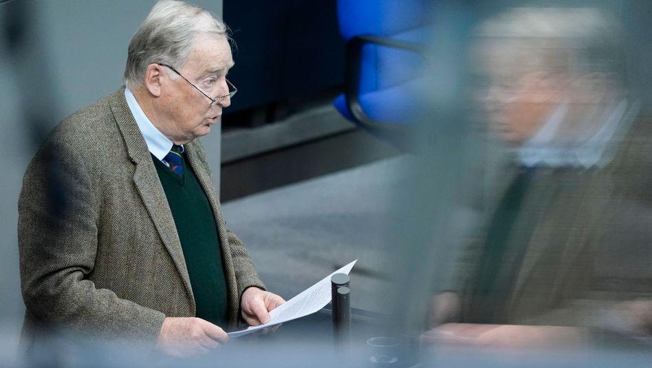 AfD-Fraktionschef Alexander Gauland am 20. November im Bundestag: »Dafür entschuldige ich mich als Fraktionsvorsitzender«