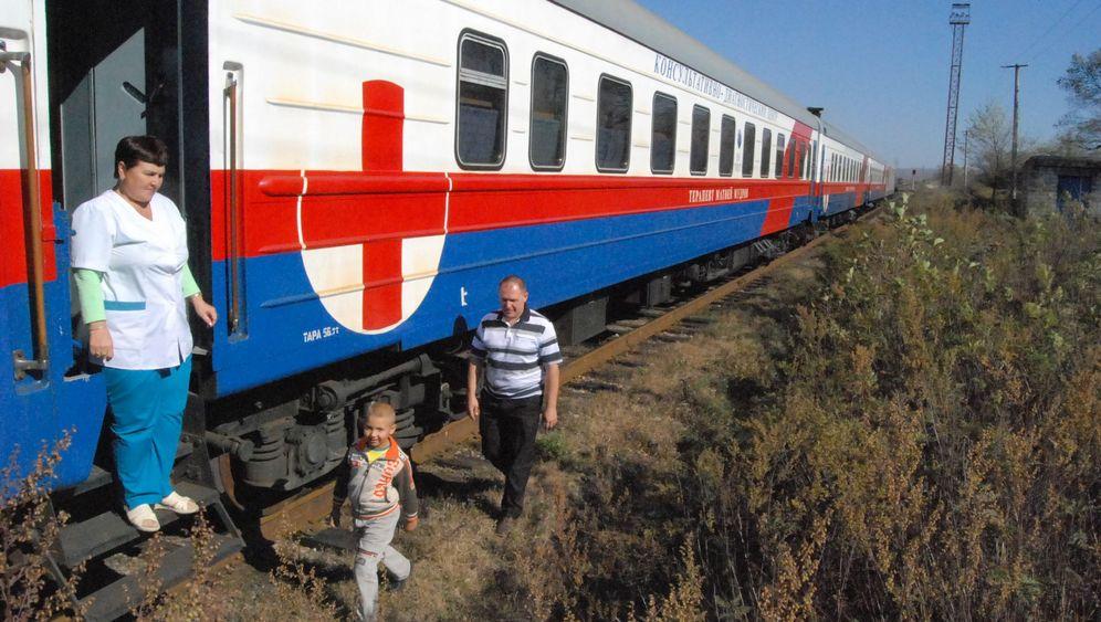 Hilfe per Eisenbahn: Russlands Medizinzug