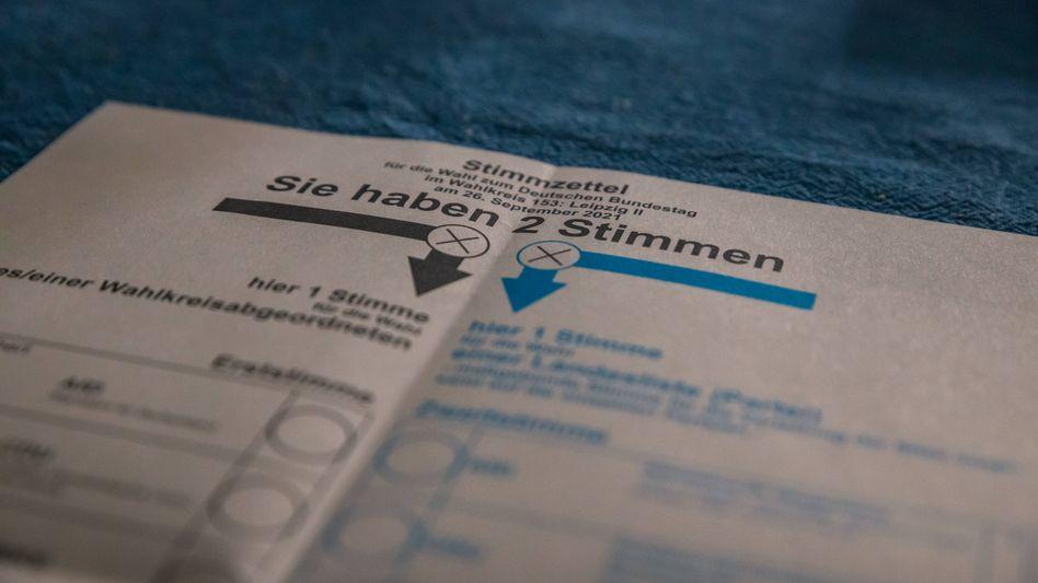 Ein Wahlzettel für die Bundestagswahl