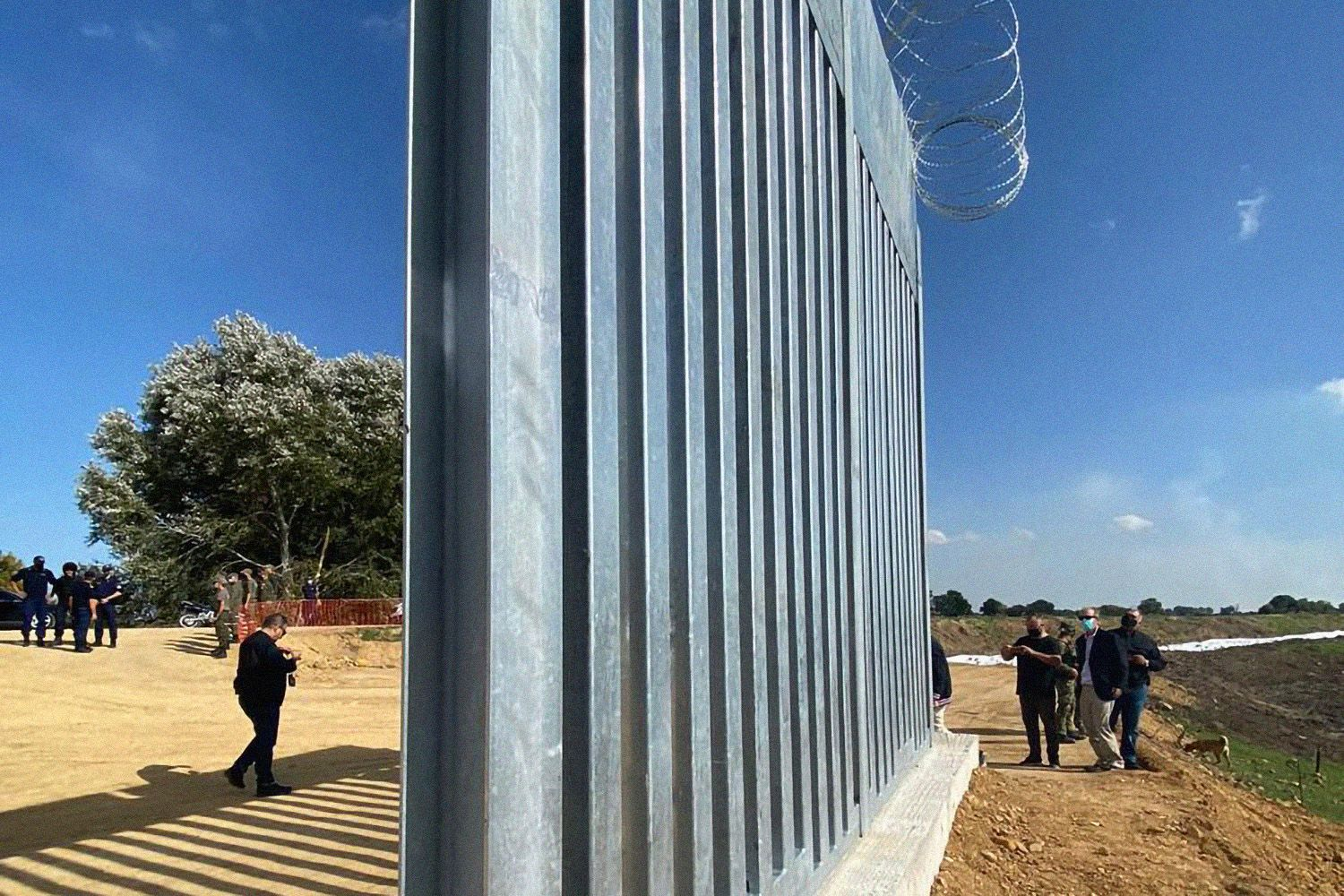 New Evros fence at the border with Turkey, Greece - 25 Sep 2020