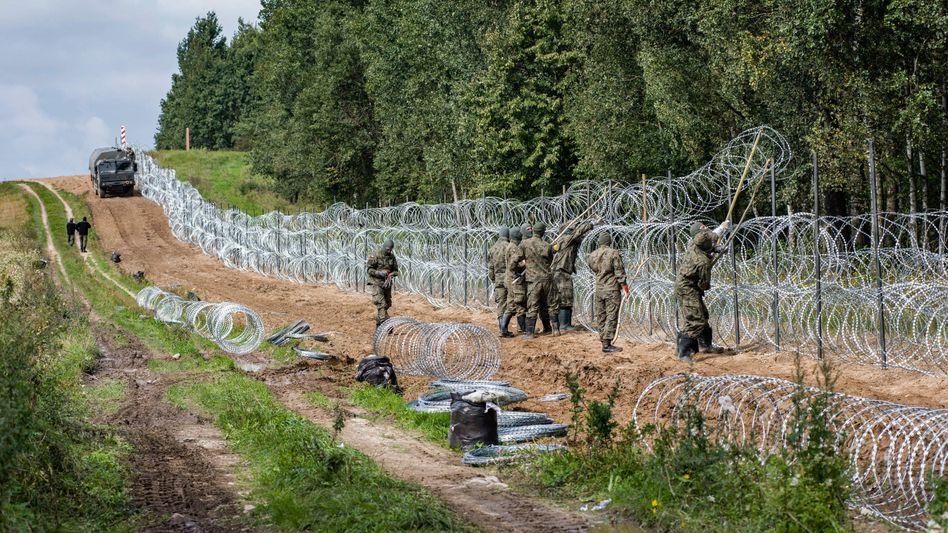 Grenze zu Belarus: Polens Präsident Andrzej Duda hatte Anfang des Monats einen Notstand verhängt