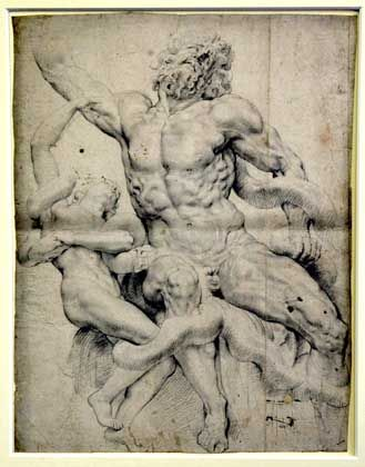 Entdeckt: Rubens-Zeichnung einer Laokoon-Gruppe
