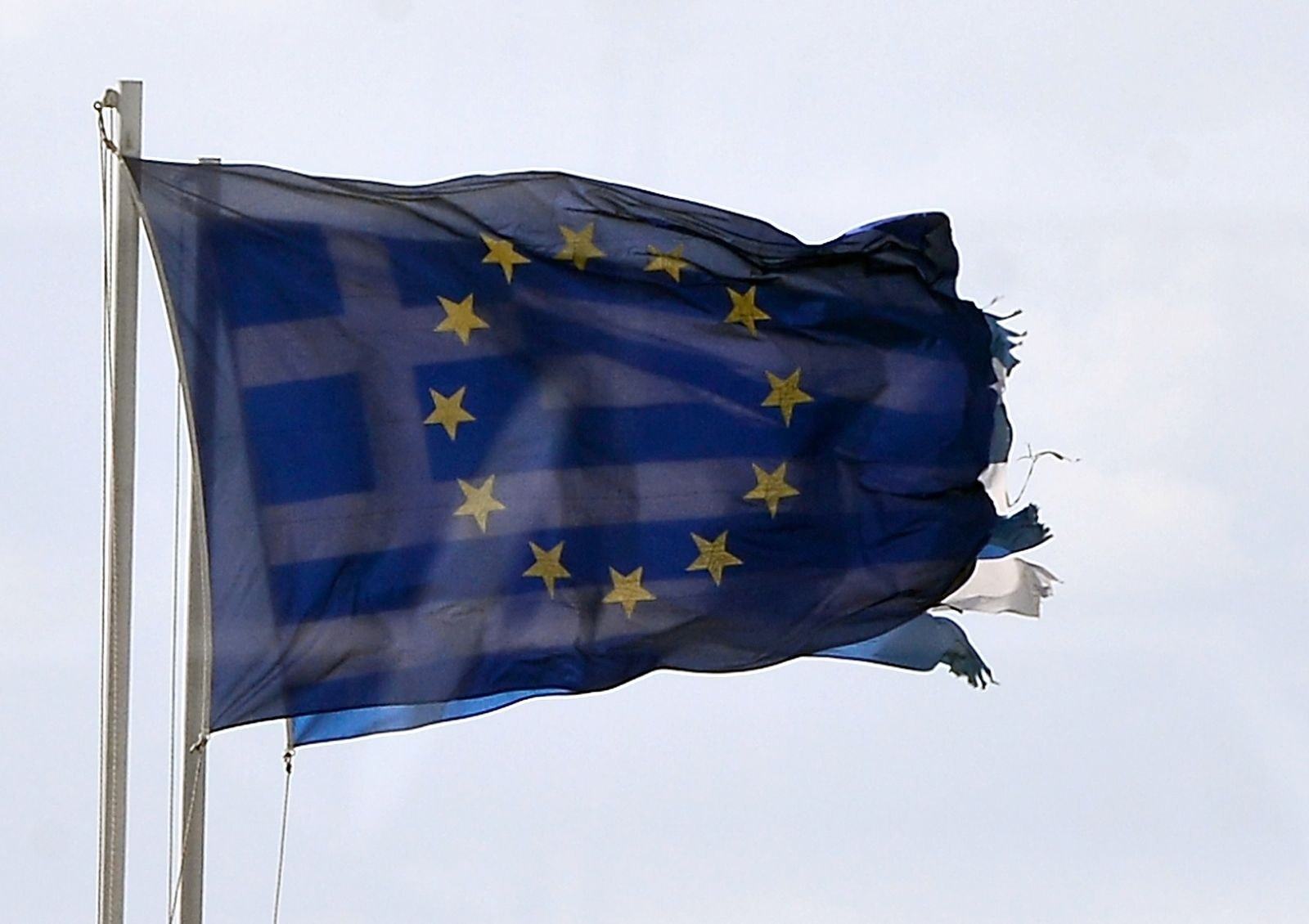 Griechenland / EU / Fahne