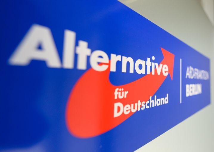 Ein AfD-Logo: Der Aufstieg wurde zuletzt ausgebremst
