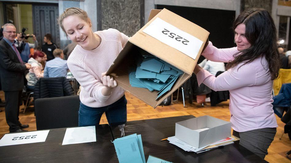 Stimmauszählung in Hannover