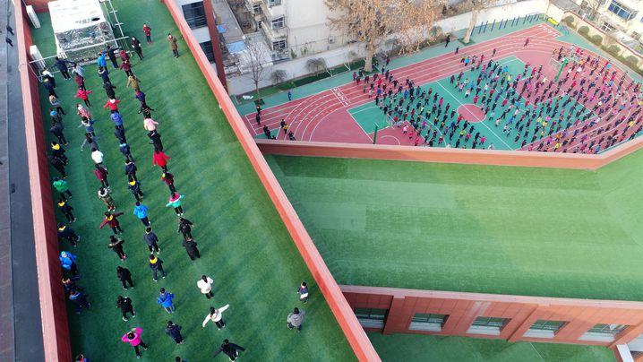 Grundschüler in Jinan, China (Archivbild)