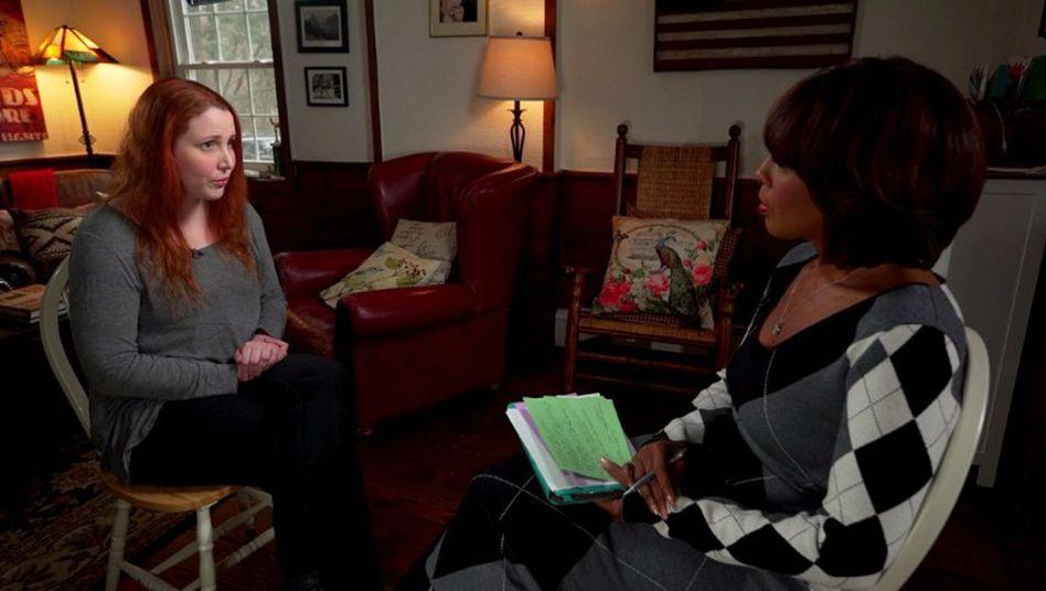 """Dylan Farrow während eines Interviews für die amerikanische Fernsehsendung """"CBS This Morning""""."""