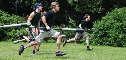 """""""Drei-zwei-eins-Jugger!"""": Das Team """"Zonenkinder"""" sprintet los"""