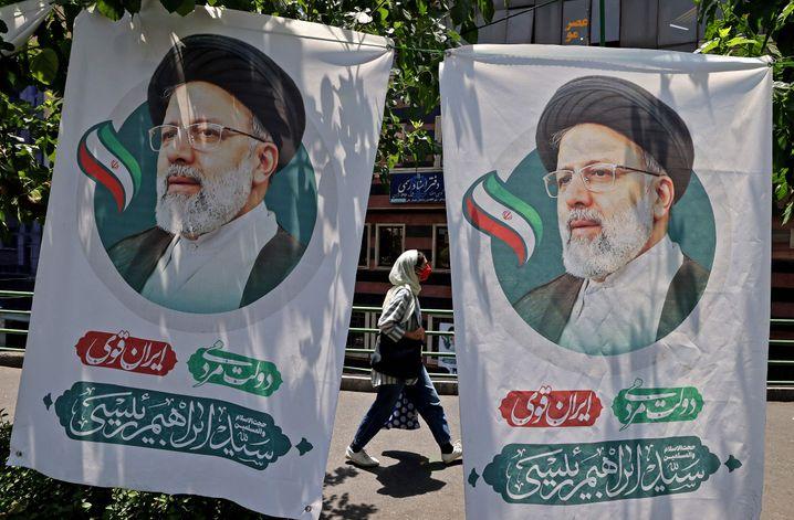 Wahlwerbung von Raisi in Teheran