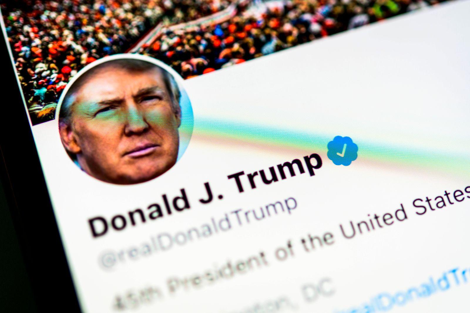 Offizielle Twitter Seite von Donald J. Trump, realDonaldTrump, Präsident der Vereinigten Staaten von Amerika, Bildschirm